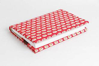 Papiernictvo - obal na knihu otvárací - červené ruže - 8023578_