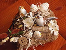 Dekorácie - Jarná dekorácia - vtáčiky - 8019528_