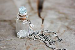 Náhrdelníky - lahvička na drobnosti či mléčné zoubky - 8023186_