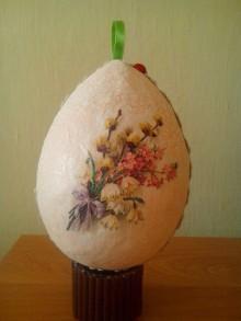 Dekorácie - vajíčko kvety - 8027531_