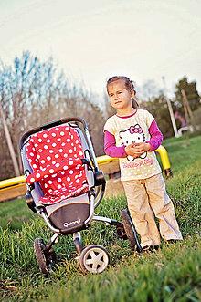 Detské súpravy - Súprava do akéhokoľvek kočíka = podložka + návlek na madlo - 8028275_