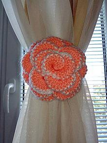 Úžitkový textil - Spona na záclonu - ruža - 8025198_