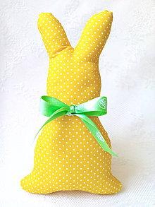 Dekorácie - Bunny (yellow/mini white dots) - 8026457_