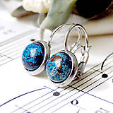 - Turqouise Agate Stainless Steel Earrings / Visiace náušnice s tyrkysovým achátom (chirurgická oceľ) /0591 - 8025593_