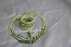 Sady šperkov - Súprava zelená so serpentinitom - 8027139_