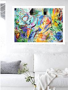 Obrazy - Dialóg farby XVII - 8027856_
