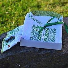 Oblečenie - Zelená mini kvety - 8027016_
