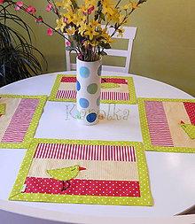 Úžitkový textil - Veľkonočné prestieranie - Z farebného vajíčka n.3 (1) - 8025752_