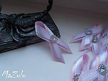 Pierka - svadobné pierko ružová & strieborná - 8028126_