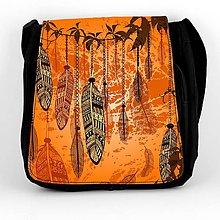 Iné tašky - Taška na plece pierka v oranžovom 04 - 8028122_