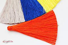 Komponenty - strapec oranžový 65mm - 8027970_
