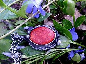 Náhrdelníky - cínový náhrdelník - Hubový korál - 8024549_
