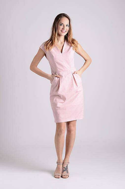 Šaty Déva | ružová-lososová