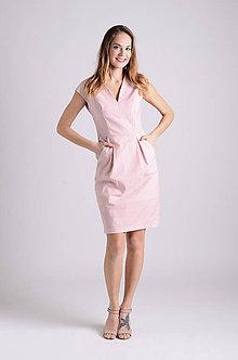 Šaty - Šaty Déva   ružová-lososová   jediný kus - 8026860_