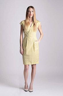 Šaty - Šaty Déva   žltozelená - 8026900_