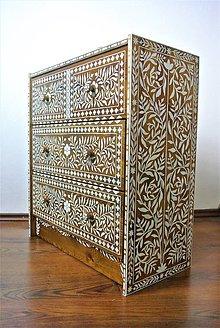 Nábytok - Ručne maľovaná komoda *Orient ornament* - 8024713_