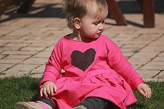 Detské oblečenie - Detské šaty ružové kruhová sukňa - 8025326_