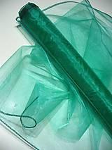 Textil - organza smaragd - 8028048_