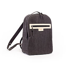 Batohy - Backpack Denim black - 8027662_