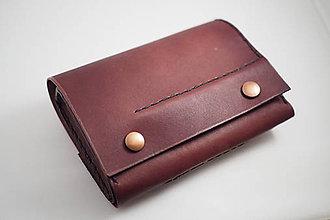Peňaženky - Kožená peňaženka MontMat-červeň palisandr - 8024042_