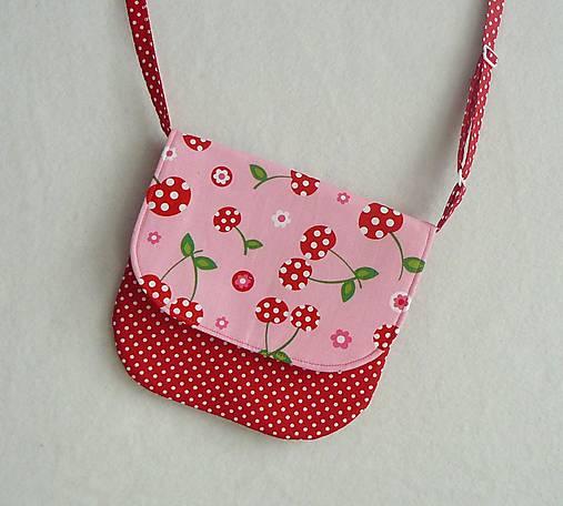 b43a8baa4 Detská kabelka čerešničková / LEAN - SAShE.sk - Handmade Detské tašky