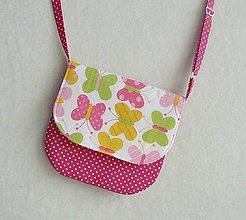 Detské tašky - Detská kabelka motýliková č.1 - 8027939_
