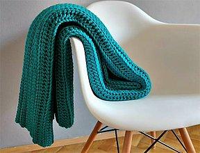 Úžitkový textil - Veľká háčkovaná deka - 8028346_