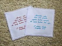 Iné doplnky - svadobná vreckovka - 8025667_