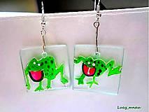 Náušnice - Náušničky skákajúce žabky:) - 8027282_