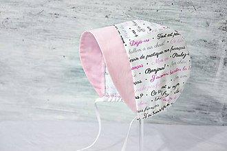Detské čiapky - Baby čepiec Deja vu - 8027540_