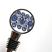 Iné - zátka s modrým folklórnym motívom - 8024302_