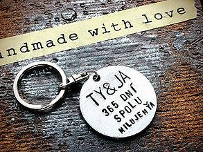 Kľúčenky - Ty&Ja ... spolu MILUJM ŤA - 8029964_