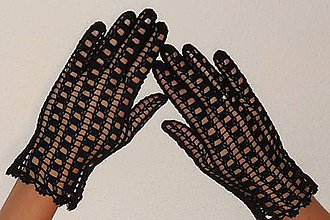 Rukavice - Háčkované rukavičky - 8028844_