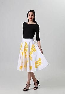 Sukne - Žltý kvet - 8028422_
