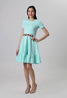 Šaty - Pom pom mint - 8028435_