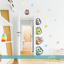 Dekorácie - (3592f) Nálepka na stenu - Sovičky - 8030466_