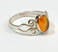 Prstene - Karneol strieborný prsteň - 8032067_