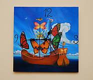 Hodiny - Butterfly Ship - 8031090_
