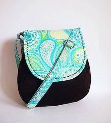 Veľké tašky - Veľká menžestrová taška - tyrkysová - 8030442_