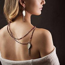 Náhrdelníky - Dvouřadý náhrdelník Eternity se spinely - 8029058_