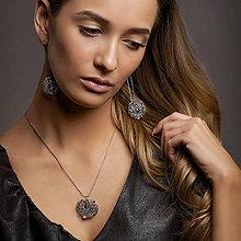 Sady šperkov - stříbrná souprava - iolit v kleci - 8029074_