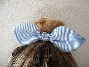 Ozdoby do vlasov - Pin-up gumička s mašľou na drdol \