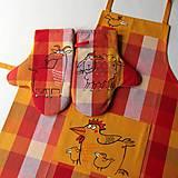 Úžitkový textil - JE JARO !!! - zástěra a chňapky - 8028767_