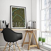 Obrazy - PARÍŽ, 50x70cm, elegantný, čierny - 8031400_