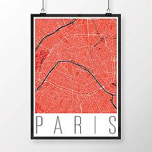 Obrazy - PARÍŽ, moderný, červený - 8031409_
