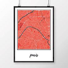 Obrazy - PARÍŽ, klasický, červený - 8031417_