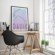 Obrazy - PARÍŽ, elegantný, modro-fialový - 8031483_