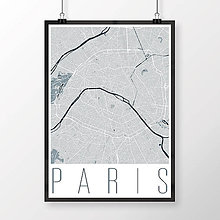 Obrazy - PARÍŽ, moderný, svetlomodrý - 8031487_