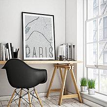 Obrazy - PARÍŽ, elegantný, svetlomodrý - 8031501_