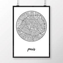 Obrazy - PARÍŽ, okrúhly, biely - 8031514_